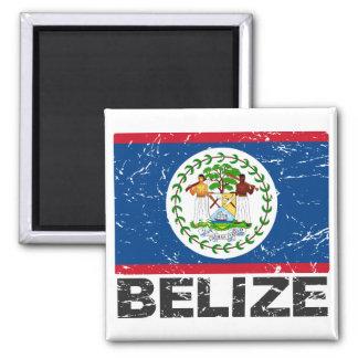 Bandera del vintage de Belice Imanes