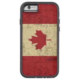 Bandera del vintage de Canadá apenada Funda De iPhone 6 Tough Xtreme