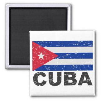 Bandera del vintage de Cuba Imán Para Frigorífico