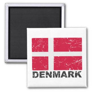 Bandera del vintage de Dinamarca Imán