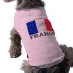 Bandera del vintage de Francia Prenda Mascota