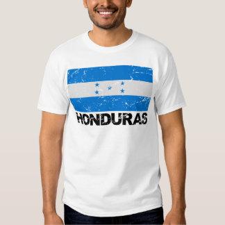 Bandera del vintage de Honduras Camisetas