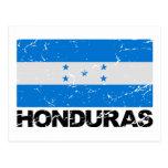 Bandera del vintage de Honduras Postal