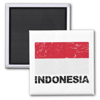 Bandera del vintage de Indonesia Imanes