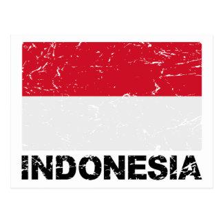 Bandera del vintage de Indonesia Postal