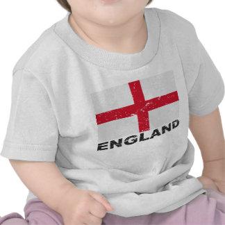 Bandera del vintage de Inglaterra Camiseta