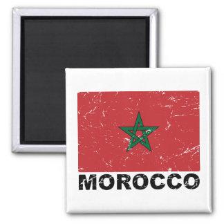 Bandera del vintage de Marruecos Imanes Para Frigoríficos