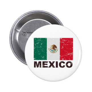 Bandera del vintage de México Chapa Redonda De 5 Cm