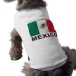 Bandera del vintage de México Ropa De Perros