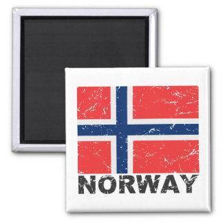 Bandera del vintage de Noruega Imán
