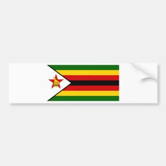 Bandera del weZimbabwe de Zimbabwe - de Pegatina Para Coche