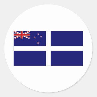 Bandera del yate de Nueva Zelanda Etiqueta Redonda