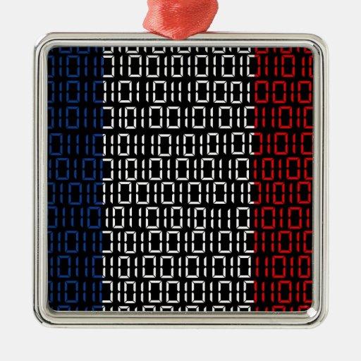 bandera digital Francia Ornamento De Navidad