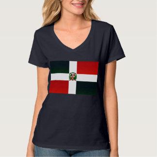 Bandera dominicana pelada moderna camiseta