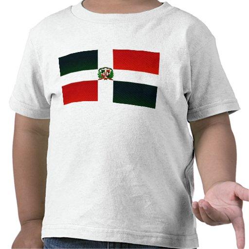 Bandera dominicana pelada moderna camisetas