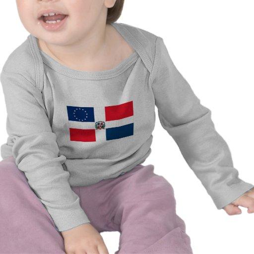 Bandera Dominicano-Americana Camisetas
