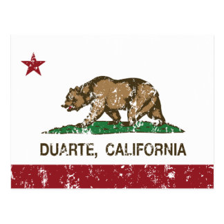 Bandera Duarte del estado de California Postales