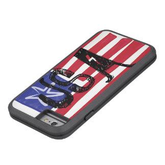 Bandera dura de los E.E.U.U. del ~ de Xtreme de la Funda Tough Xtreme iPhone 6