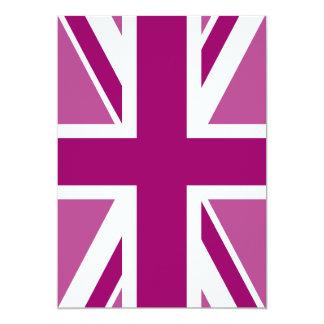 Bandera Editable de Union Jack del color Invitación 12,7 X 17,8 Cm