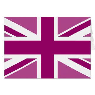 Bandera Editable de Union Jack del color Felicitación