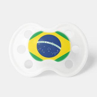 Bandera el Brasil. República Federativa hace el Br Chupete De Bebe