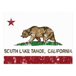 Bandera el lago Tahoe del sur del estado de Califo Tarjeta Postal