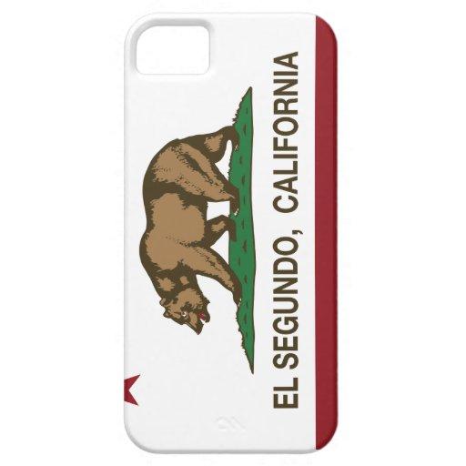 Bandera El Segundo de la república de California iPhone 5 Case-Mate Protectores