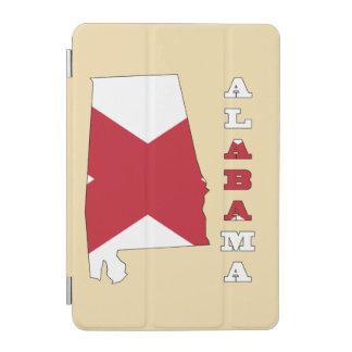 Bandera en el mapa de Alabama Cubierta De iPad Mini