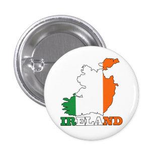 Bandera en el mapa de Irlanda Chapa Redonda De 2,5 Cm