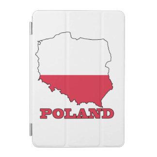 Bandera en el mapa de Polonia Cubierta De iPad Mini