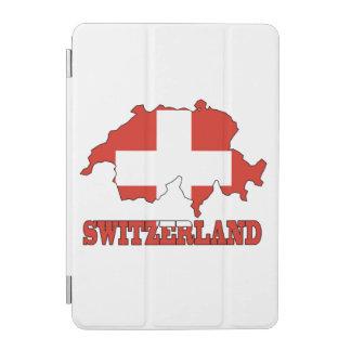 Bandera en el mapa Suiza Cover De iPad Mini
