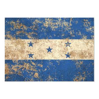 Bandera envejecida áspera de Honduras del vintage Invitación 12,7 X 17,8 Cm