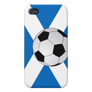 Bandera escocesa con el balón de fútbol iPhone 4/4S funda
