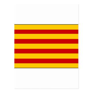 Bandera España de Cataluña Postal