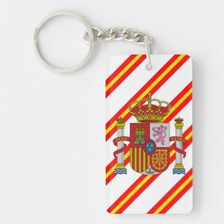 Bandera española de las rayas llavero