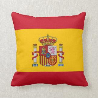 Bandera española en la almohada de MoJo del americ