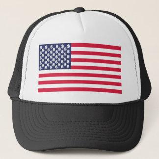 bandera Estados Unidos u del símbolo del dólar del Gorra De Camionero