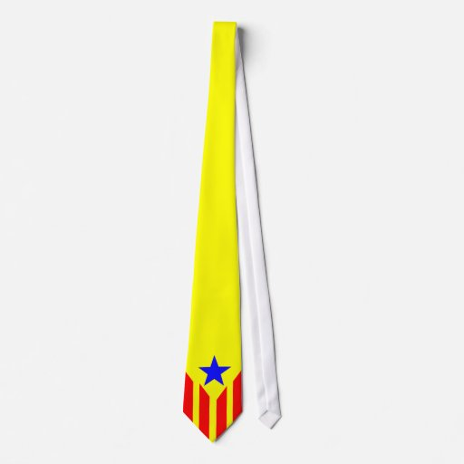 Bandera estelada catalana corbata zazzle for Disenos de corbatas