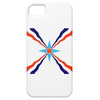 bandera étnica de la gente asiria funda para iPhone SE/5/5s