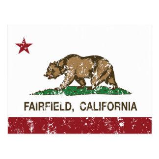 bandera fairfield de California apenado Postal