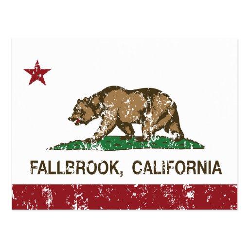 Bandera Fallbrook del estado de California Tarjetas Postales