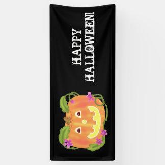 Bandera feliz de la calabaza lona