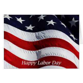 Bandera feliz de los E.E.U.U. del Día del Trabajo Tarjeta De Felicitación