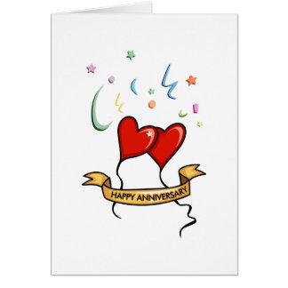 Bandera feliz del aniversario tarjeta de felicitación