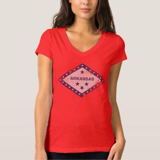 Bandera femenina linda del Grunge del vintage de Camiseta