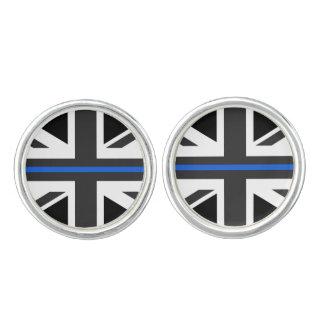 Bandera fina de Blue Line Reino Unido Gemelos