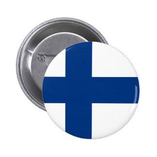 Bandera finlandesa en el botón
