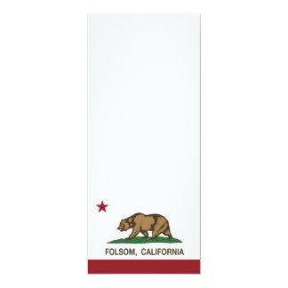 Bandera Folsom del estado de California Invitación 10,1 X 23,5 Cm