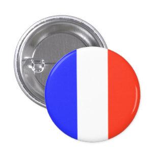 Bandera francesa chapa redonda de 2,5 cm