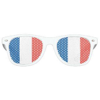 Bandera francesa gafas de fiesta retro